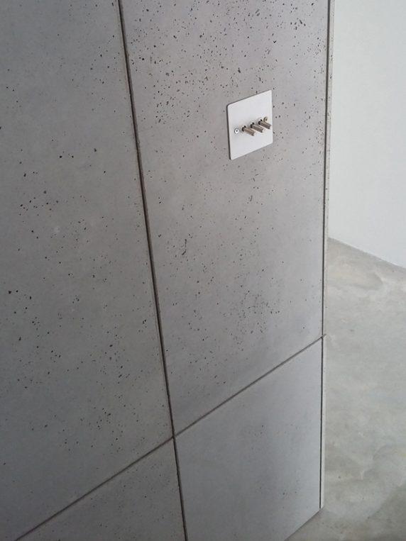 beton tegels wand