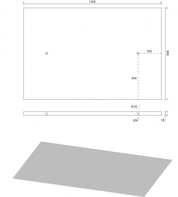 beton wandpaneel 120 x 80 cm