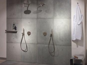 badkamer betonnen wand