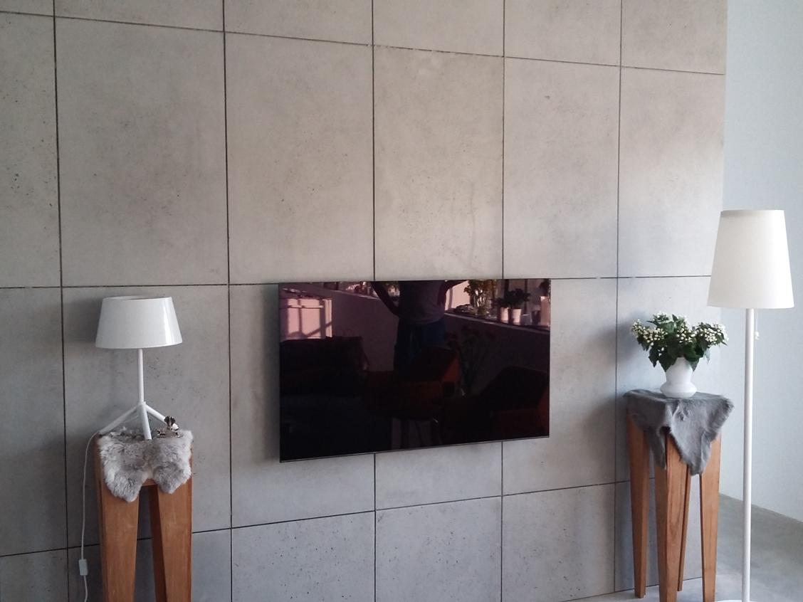 beton tv achterwand