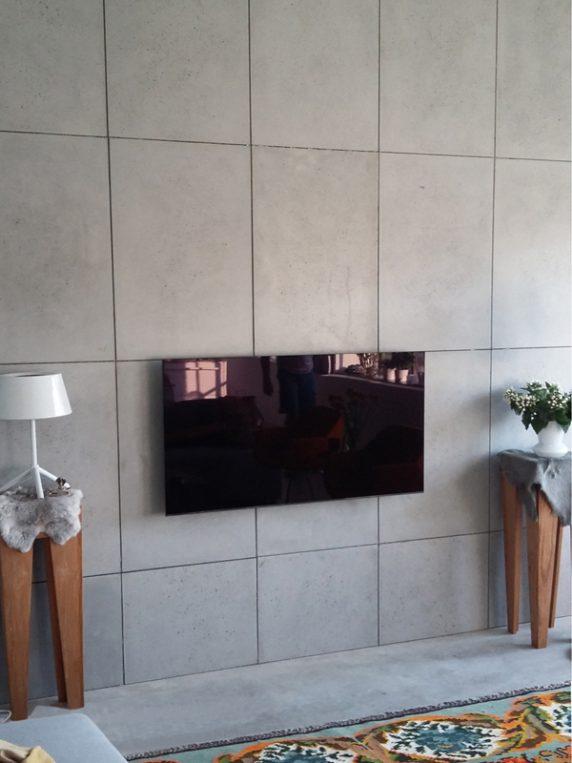 beton wand tegels