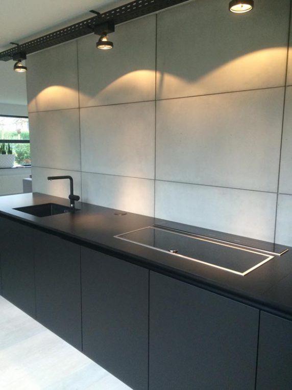 betonnen keukenwand