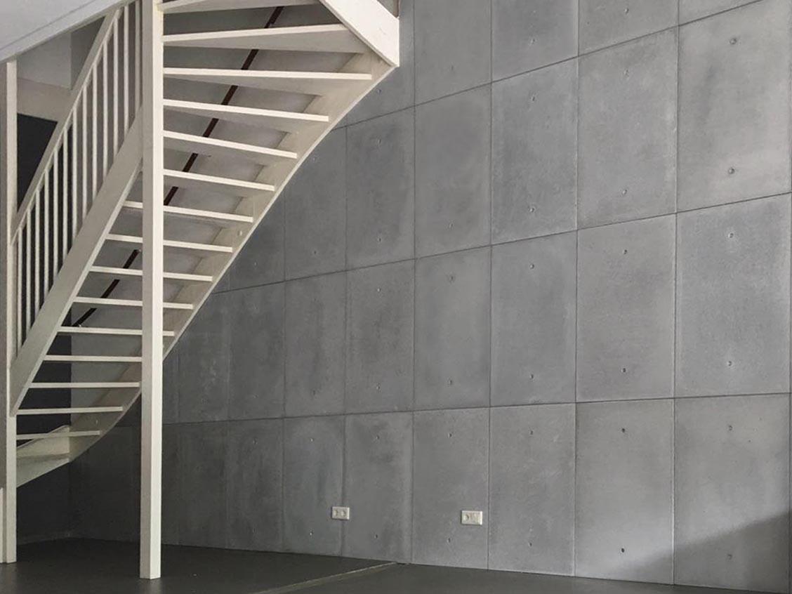 betonnen wand interieur