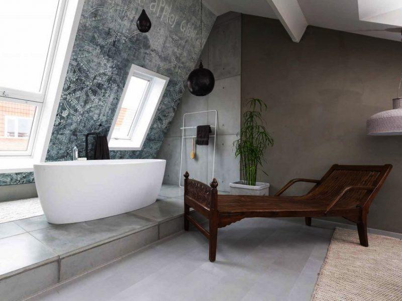 betontegels badkamer