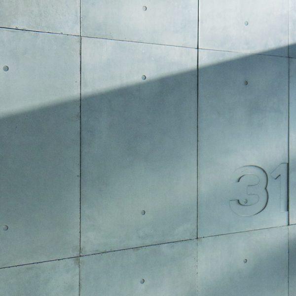 betontegels muur