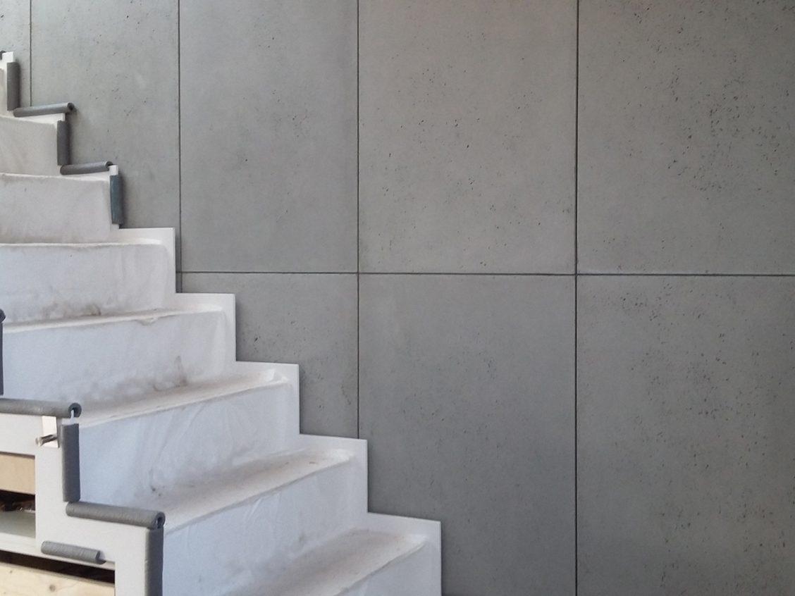 echt betontegels muur
