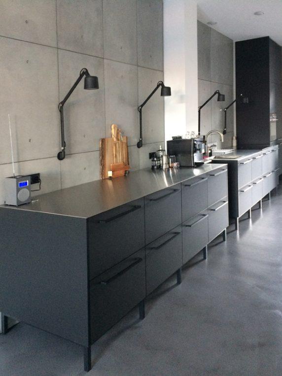 industrieel betonnen keuken