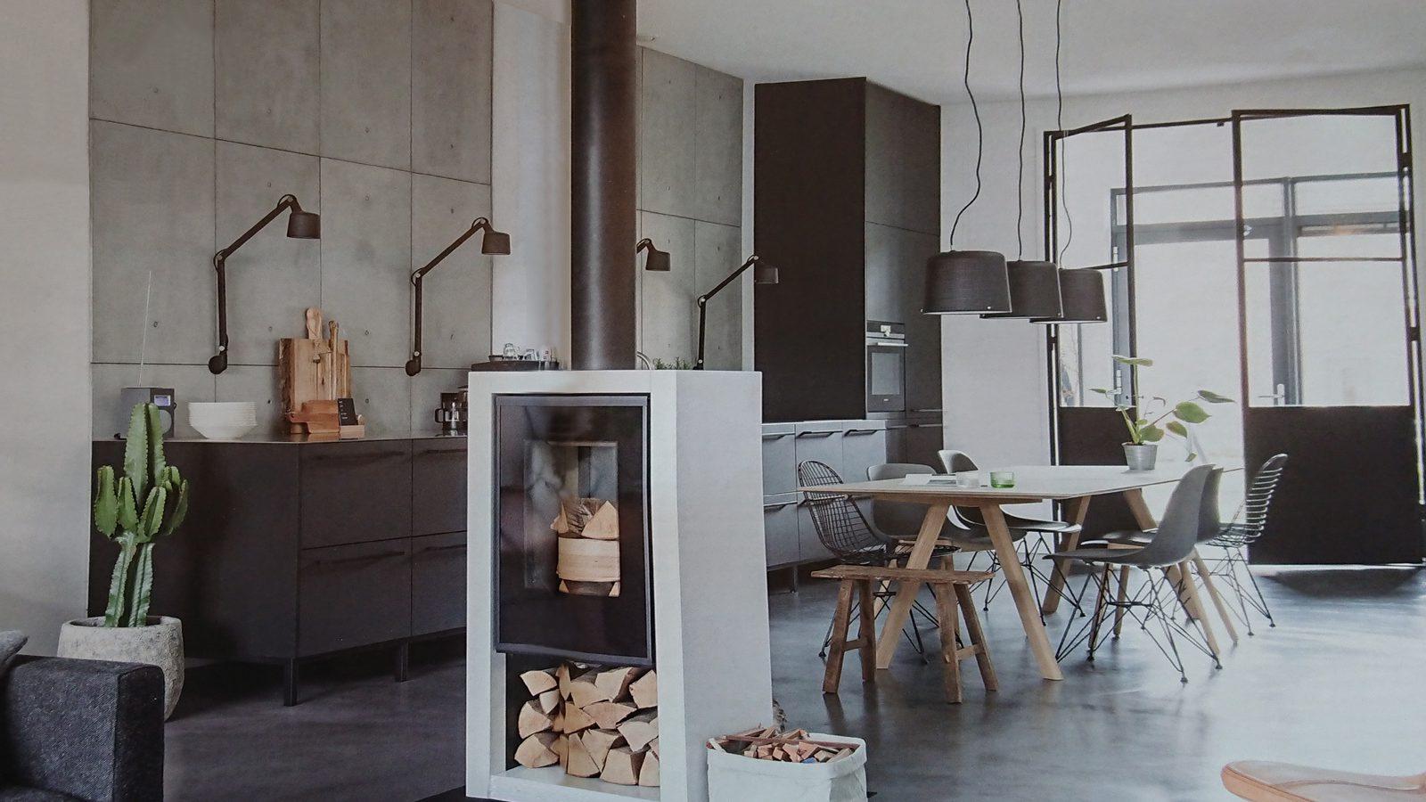 industriële betonwand kamer
