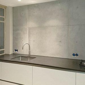 keukenachterwand beton