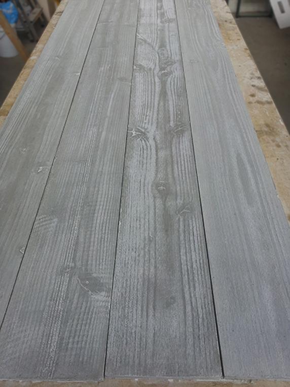 ruw hout beton planken