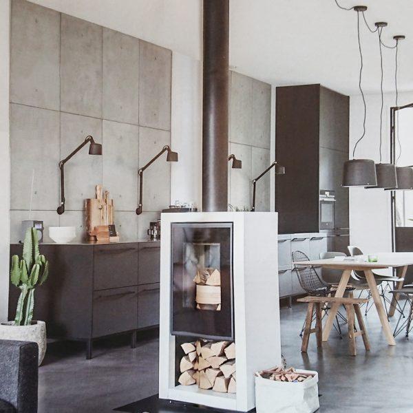 wandpanelen beton keuken