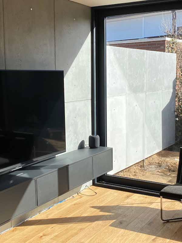 beton binnen en buitenshuis